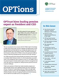 OPTions Winter 2015 newsletter cover