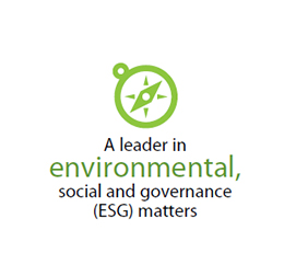 A leader in environmental, social and governance (ESG) matters