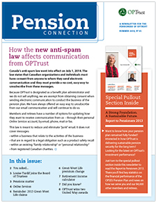 Pension Connection Summer 2014
