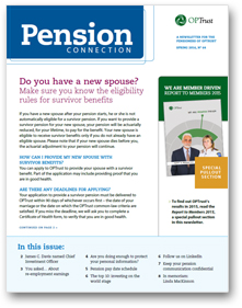 Pension Connection Spring 2016