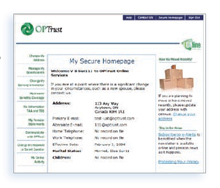 Online services homepage