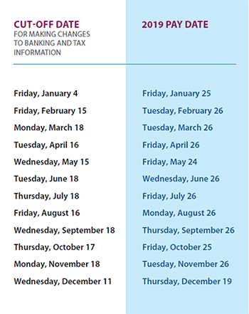 Pension pay dates