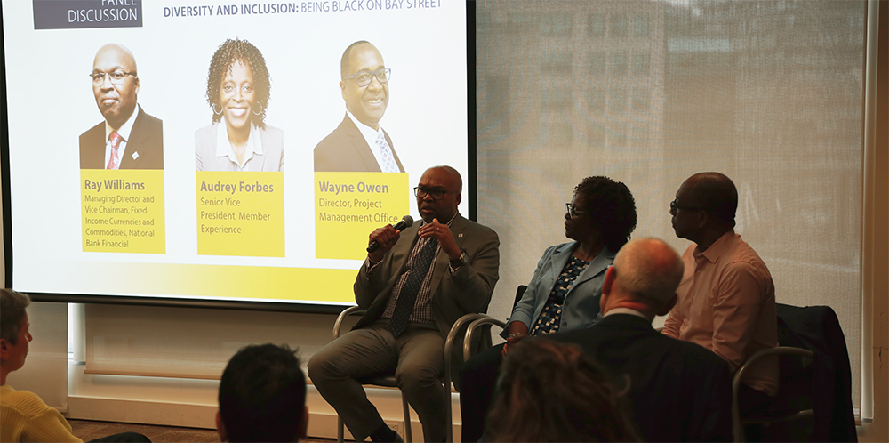 Being Black on Bay Street panelists