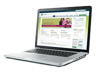 Laptop showing OPTrust website