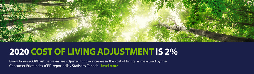 2020 Cost of Living Adjustment is 2%