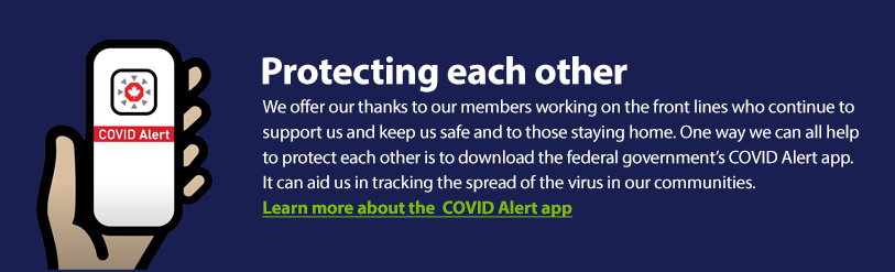 Learn more about the  COVID Alert app