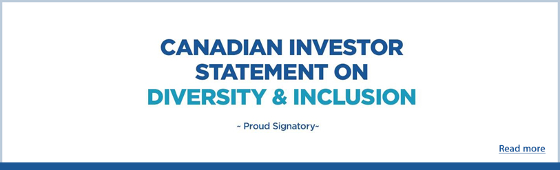 Canadian Investor Statement on Diversity & Inclusion