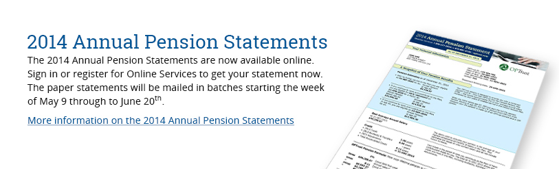 2014 Annual Pension Statements
